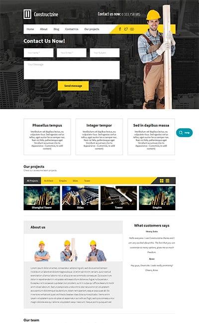 Plantillas Web para Sitios de Construcción