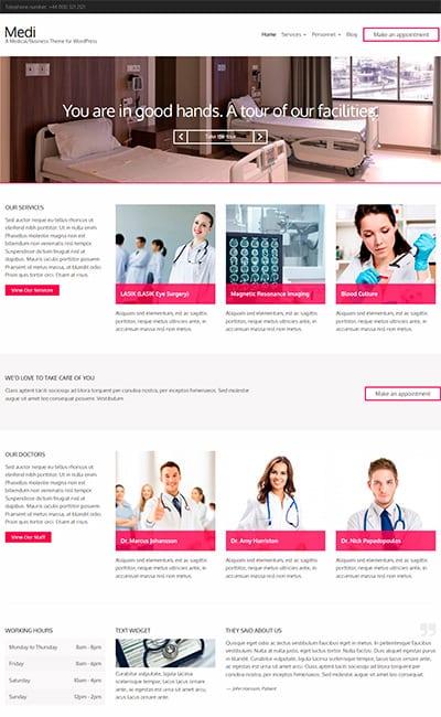Plantillas Web de Medicina y salud