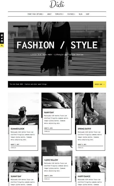 Plantillas web de Moda y Belleza