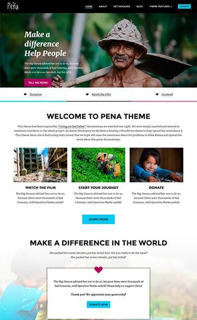 Plantilla Web para ONG y Fundaciones