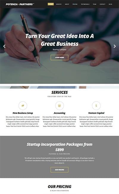 Plantillas Web para Corporaciones y Empresas