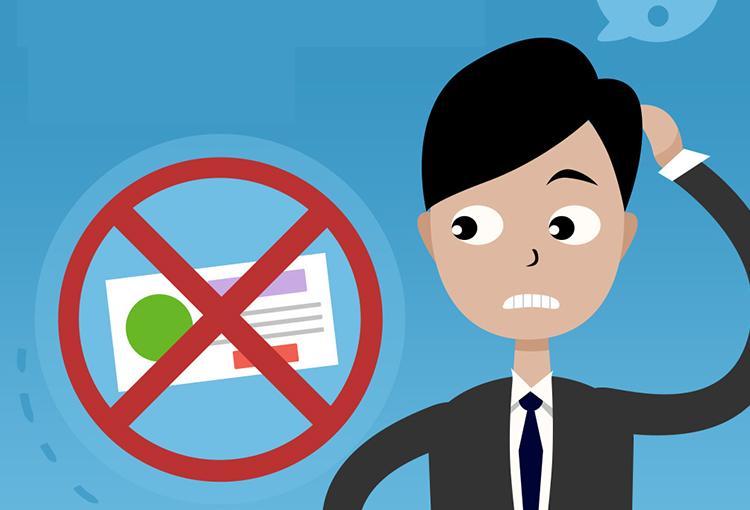 anuncios rechazados por software malicioso