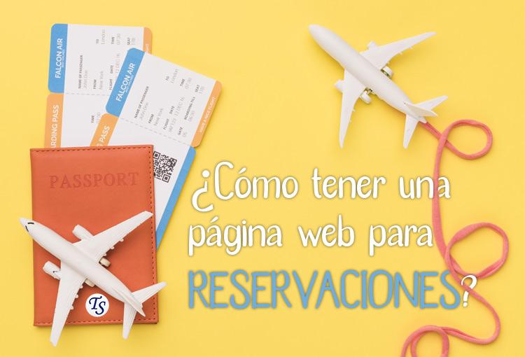 página web para reservaciones