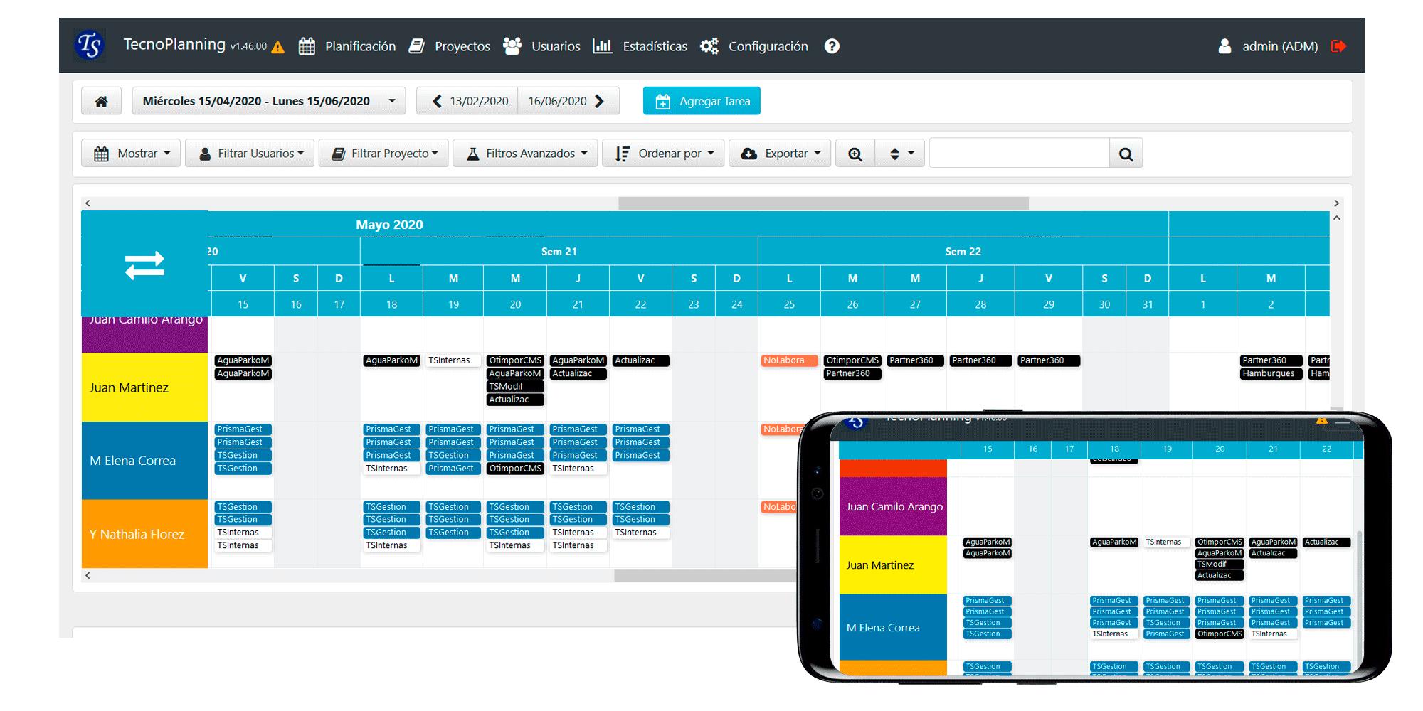 TecnoPlanning para la Planificación de Producción y Proyectos en la Nube
