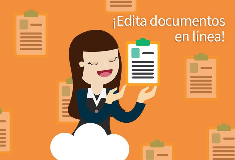 Edita documentos en línea