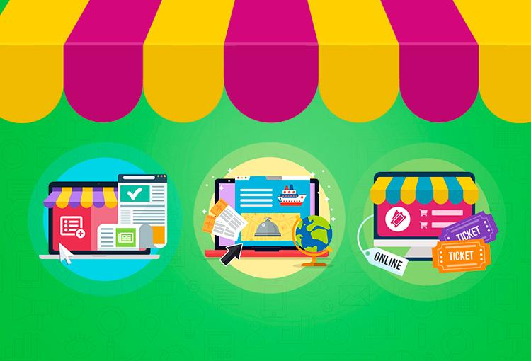 Diseña tu propio comercio electrónico de servicios.