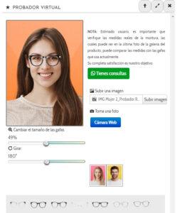 El cliente podrá ver cómo le quedan las gafas de forma virtual