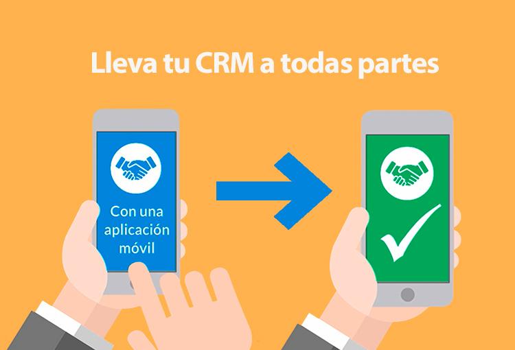Llevar el CRM a todas partes con una aplicación móvil para celular es posible